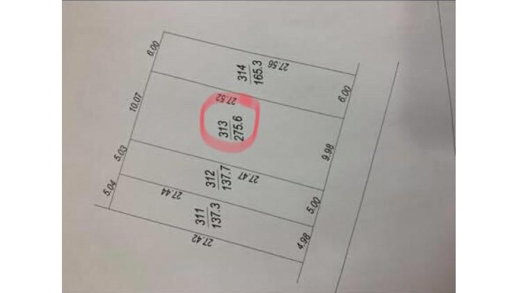 CÒN 1 LÔ ĐẦU TƯ CỰC ĐẸP TẠI PHÚ CÁT QUỐC OAI 275M2 FULL THỔ CƯ GIÁ 5.5TR/M2. L/H 0968324895.