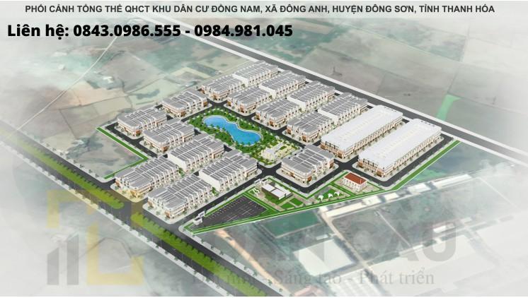 Đất Nền MB 650 Đông Sơn- Thanh Hóa. Có Sổ Đỏ Chỉ từ 12,5 triệu/m2 Cho Lô Đầu Ve, View Hồ